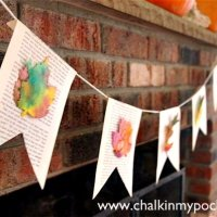 Watercolor Autumn Garland