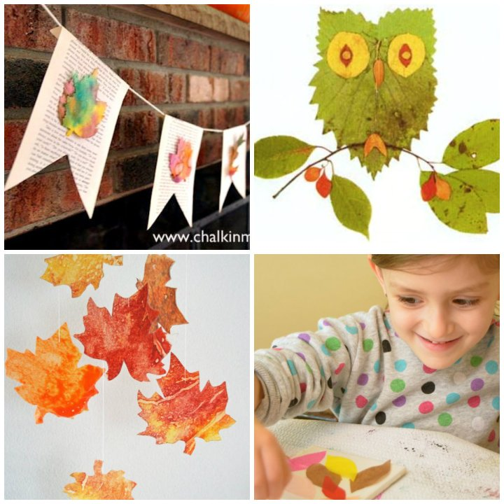 Fall leaf crafts without real leaves