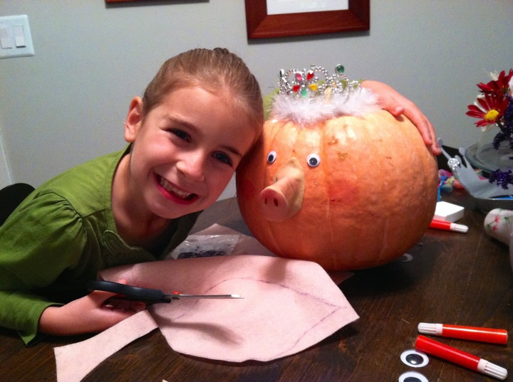 Decorate pumpkin as book character. Pumpkin Mercy Watson